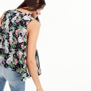J. Crew Tops - NWT J. Crew Drapey Tie-Front Top in Island Floral